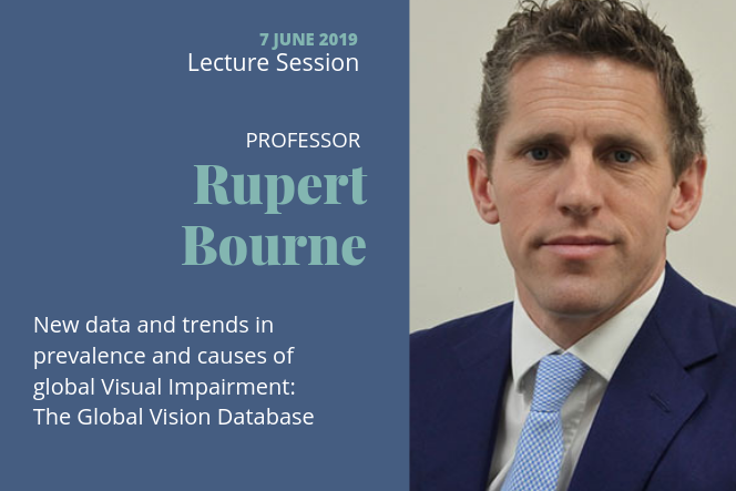 Lecture session of Professor Rupert Bourne